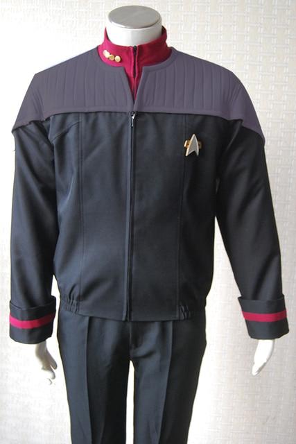 Star Trek NEM Duty Uniform Halloween Cosplay Costume Coat Jacket+shirt+badge Full Set Uniform Halloween Carnival Men 1