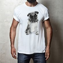 FUNNY HEAVY METAL PUG CUTE PET ANIMAL DOG MENS & WOMENS FIT T-SHIRT TEE TOP New T Shirts Funny Tops Tee New Unisex Funny Tops все цены