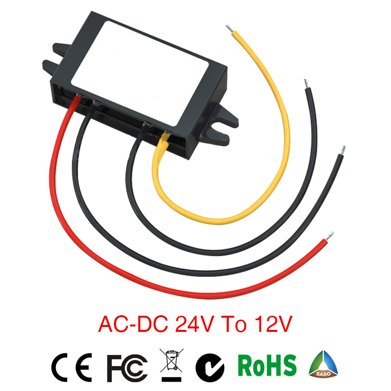 2018 Real Grid Tie Power Supply Converter Ac/dc Step-down 24vto 12v 2a Waterproof Control Car Module Inverter Size 46*32*18mm