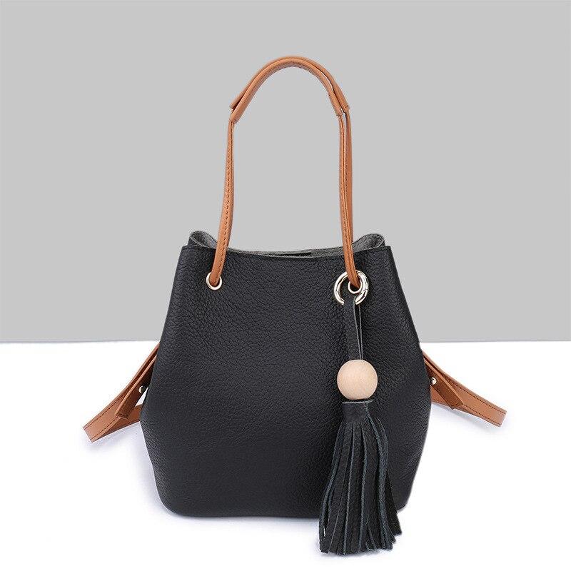 Rindsleder Dame Designer Berühmte Marken Black Handtaschen Hochwertigem Frauen Leder grey blue Echtem Crossbody Taschen Eimer Schicht Top red W7qSY74w