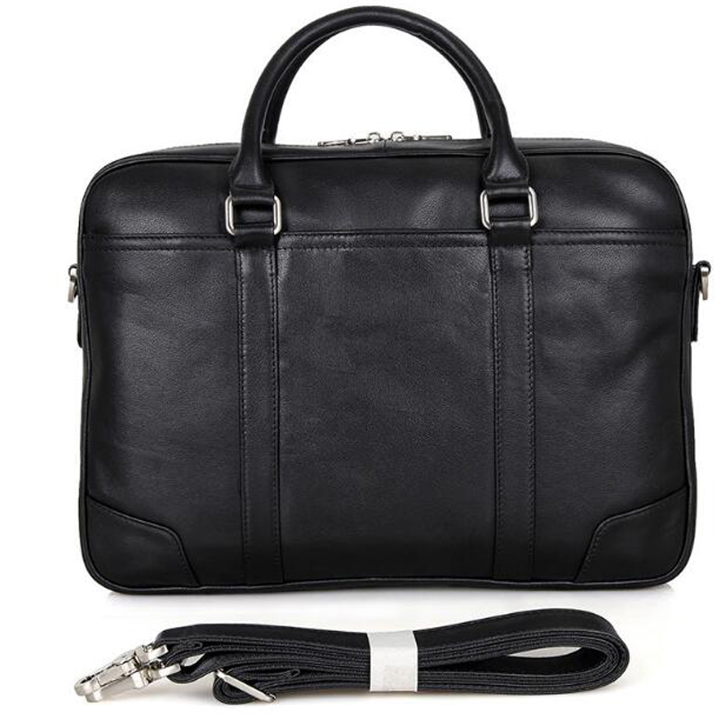 6d88356fe3 ANAPH Office Work Bags Man Full Grain Natural Leather Black Executive  Briefcases For Men