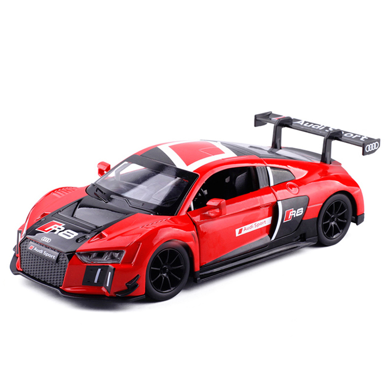 High Simulation 1:24 Scale New Audi R8 LMS Alloy Sports Car Model Metal Die Cast Toys For Kids Gifts Collection Free Shipping