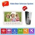 "Factory Direct Sale Concise Version 7"" TFT Monitor with Storage 800TVL HD Rainproof Door Video Intercom Systems Camera Doorbell"
