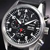 42mm Parnis Black Dial Vintage Style Day Date Quartz Full Chronograph Mens Watch14