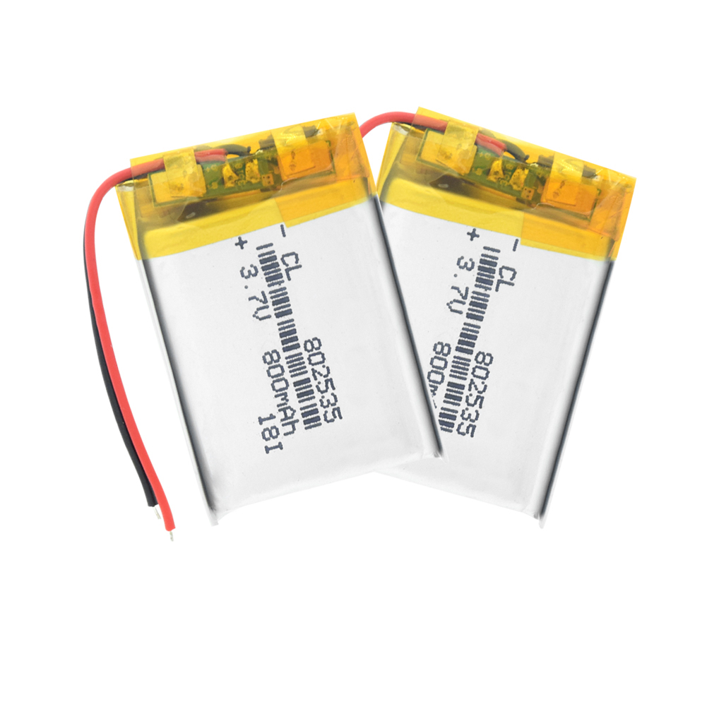 3.7V lithium battery 800MAH polymer battery 802535 For GPS MP3 MP4 MP5 LED Light PDA speakers small toy Rechargeable Li-ion Cell