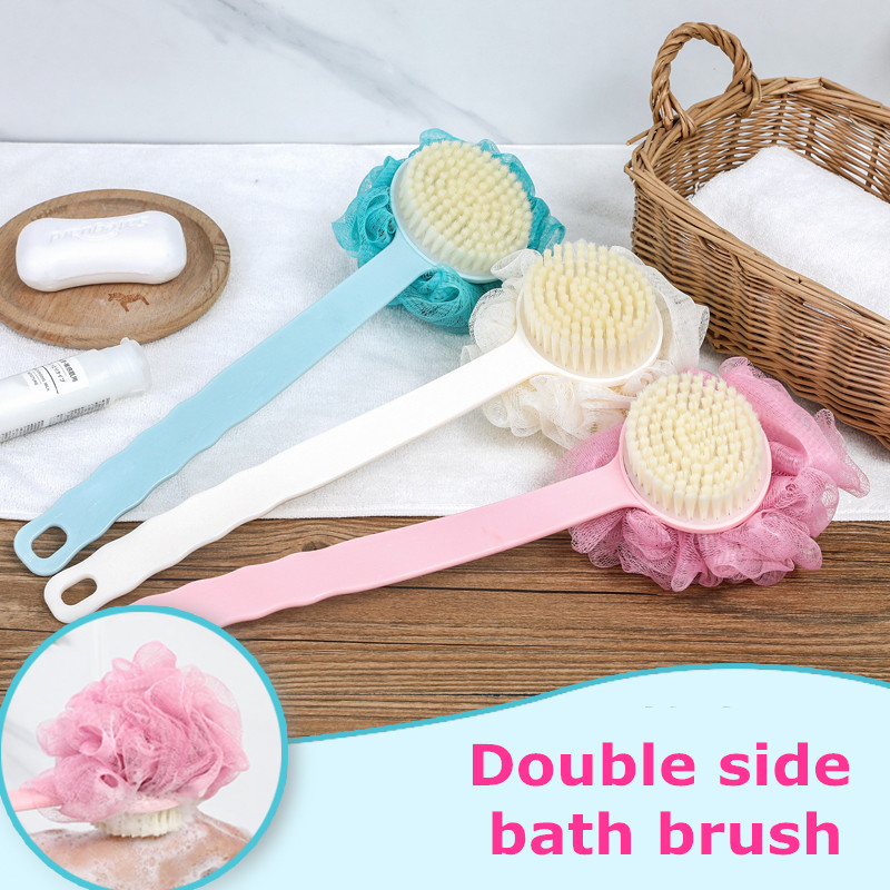 New Hot Soft Bath Towel Sponge Shower Accessories Brushes Scrubbers Cotton Rubbing Body Wash Brush Bath Brushes Easy And Simple To Handle Furniture