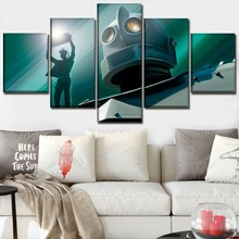 5 Piece Ready Player One Movie Poster Robot Painting Home Decorative Bedroom Modern Cnavas Print Wall Art Modular Picture