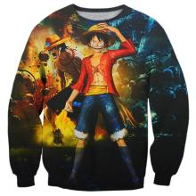 One Piece Luffy 3D Print Sweatshirt Pullover