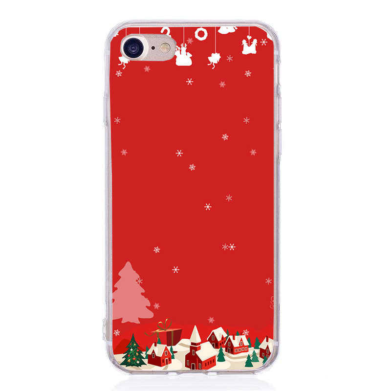 3e3bbc485e Case For Iphone 8 Plus Case Luxury For Women Merry Christmas Soft Phone  Cases Bags For ...