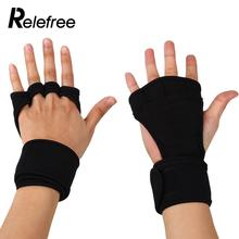 1 Pair Men Women Crossfit Training Gloves Workout Weight Lifting Gloves Hand Palm Protect Wrist Wrap Brace Support Straps