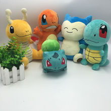 Hot Anime Plush Toys Charmander Bulbasaur Dragonite Snorlax Squirtle Soft Plush Stuffed Animals Doll Kids Children Birthday Gift