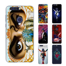 mj dangerous archangel eyes close up Musical style transparent Thin phone Case for Huawei Honor 7 8 lite V8 for Honor 6 5X 4X 5