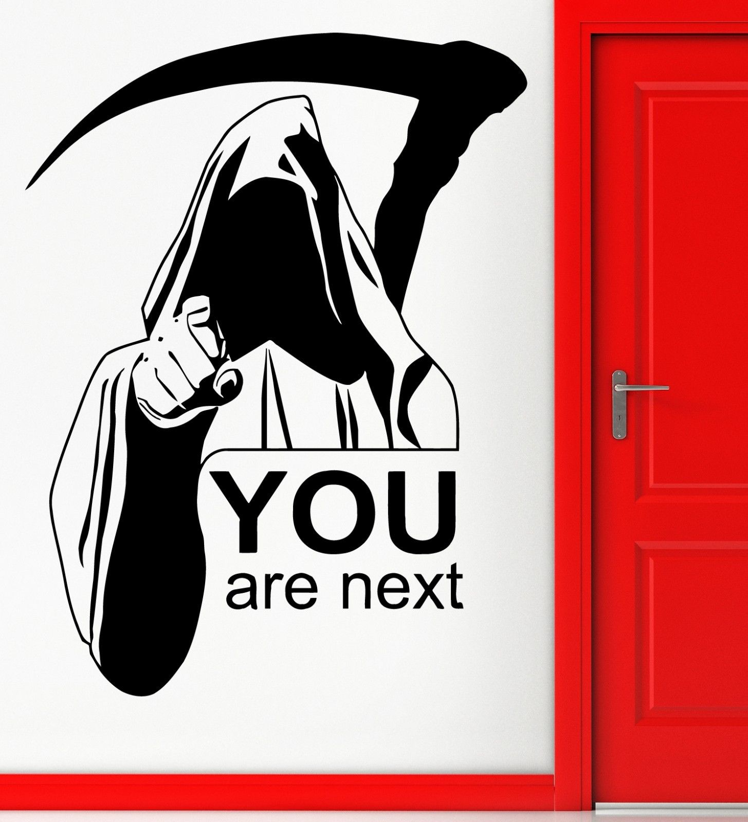 Us 602 33 Offnew Wall Stickers Vinyl Decal Death Quote You Are Next Funny Scary Decor Free Shipping In Wall Stickers From Home Garden On
