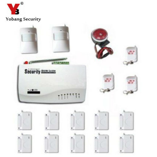 YobangSecurity Russian English Voice 433MHz Wireless GSM Home Security Burglar Alarm System PIR Detector 433 Door Alarm Sensor yobangsecurity touch keypad wifi gsm gprs home security voice burglar alarm ip camera smoke detector door pir motion sensor