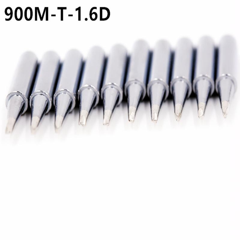 10PCS 900M-T-1.6D Soldering Iron Tips Replacement Tool 936 Welding Station Universal Head Better