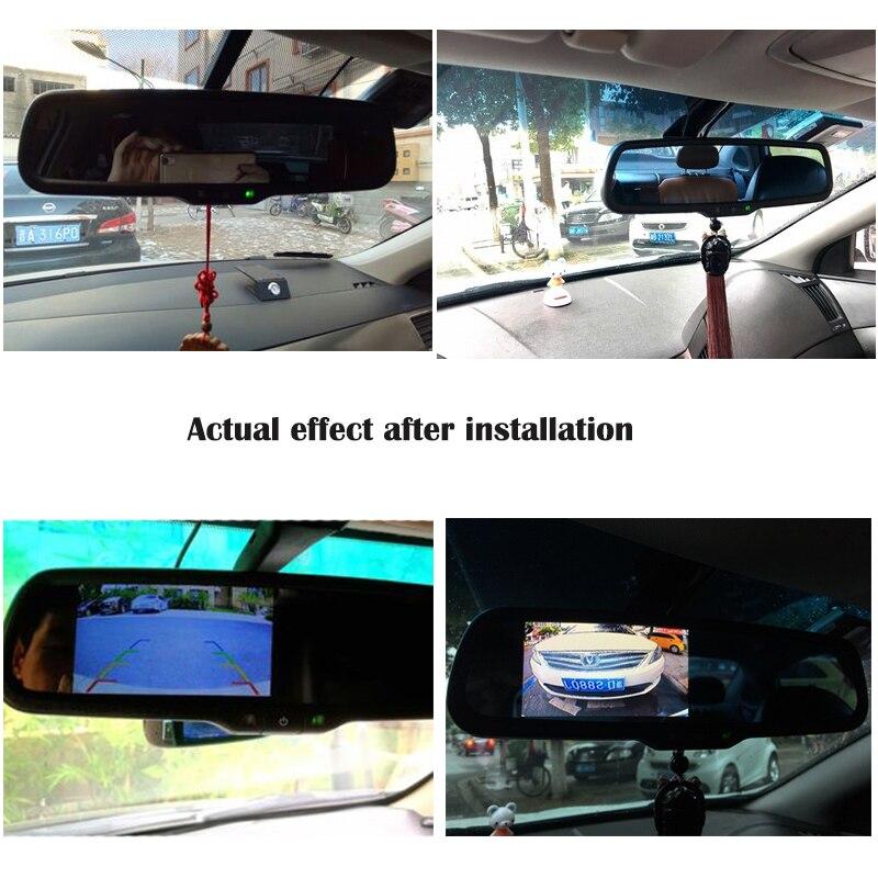 Suporte 4.3 Polegada HaiSunny Especial Espelho Retrovisor Do Carro Monitor de Suporte Kit Bluetooth Para VW Audi Kia Hyundai Com 2 de Entrada de vídeo - 6