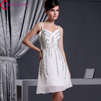 Cheap Elegant Red Crystal Beaded Homecoming Dress Short Mini Prom Women Gowns Cocktail Dresses