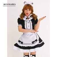 2017 New Cotton Blend Quality Womens Maid Apron Costume Customize for plus size adults and kids