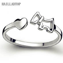 Корейское модное кольцо с серебряным покрытием милое китайское