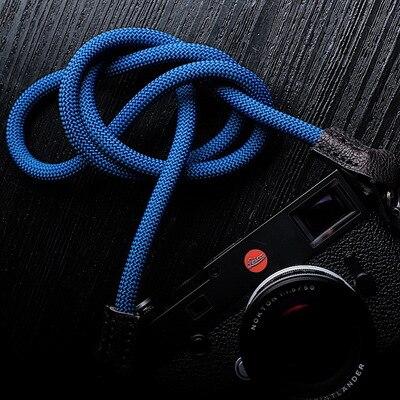 Correa de nailon tejida a mano para cámara hombro cuello correa para cámara Digital sin espejo Leica Canon Fuji Nikon Olympus Pentax Sony
