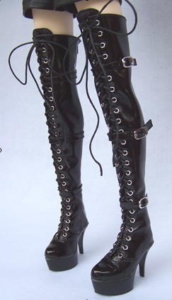 Free shipping ! 1/3 Bjd black high-heeled boot the queen boots sd luts dz aod as