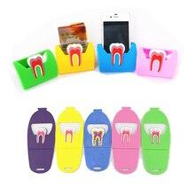 1 шт. Подставка для хранения для стоматологическая клиника милый кредитницы для именных карт стоматологическая резиновые зубы-Форма в форме коренного зуба телефона Дисплей подарок для дантиста