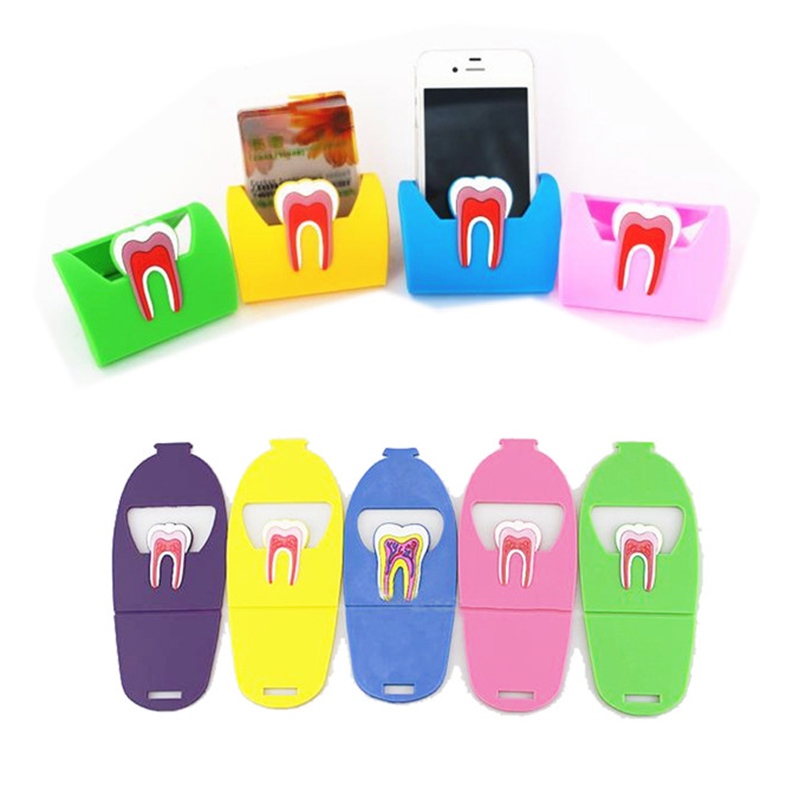 1 Pc Storage Stand For Dental Clinic Cute Name Card Holders Dental Rubber Teeth-Shape Molar Shaped Phone Display Dentist Gift