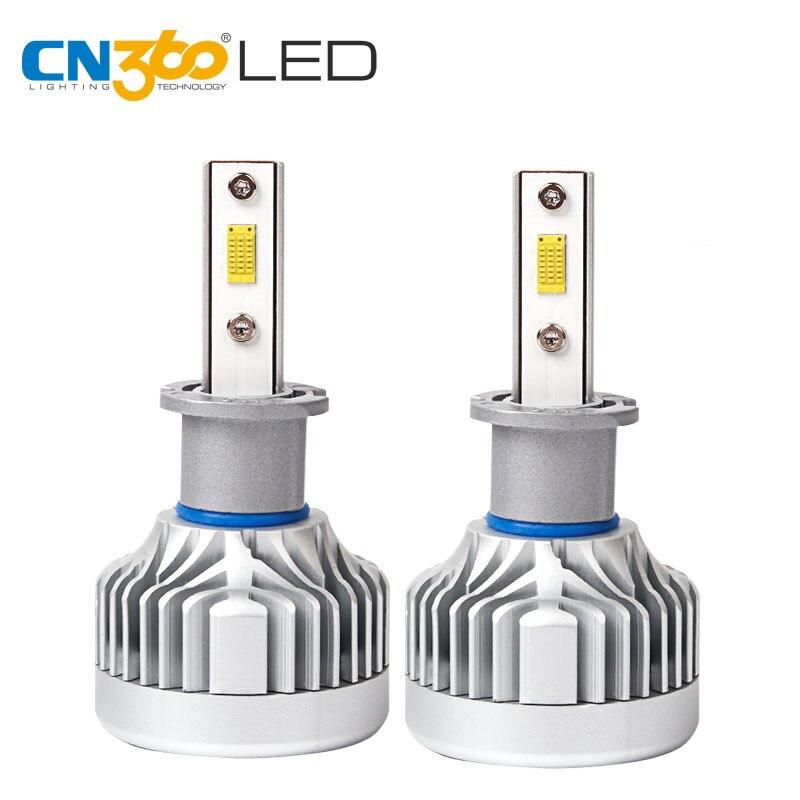CN360 2 PCS CITIZEN Chips H3 LED Headlight 60W 10000Lumens Plug & Play  Bulb 12V 6000K Super Bright Car Lamp 2 w p w v p10000 10000 waka ddc12