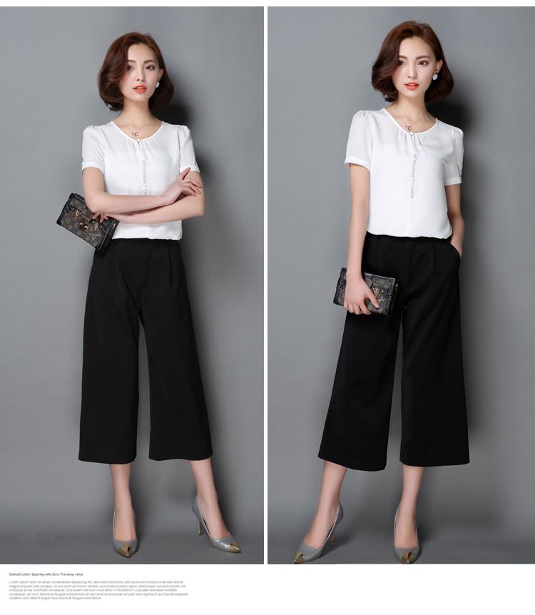HTB1mgrrNXXXXXchXFXXq6xXFXXXN - Casual Women Chiffon Blouse Ladies Solid Short Sleeve