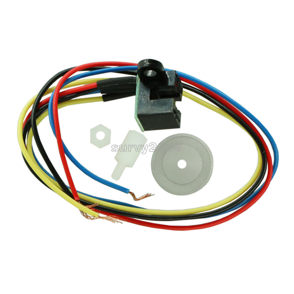5V Laser Photoelectric Speed Sensor Encoder Code Disc <font><b>Disk</b></font> Code <font><b>Wheel</b></font> for Freescale Smart <font><b>car</b></font> Cutting Quadrature Signal Output image