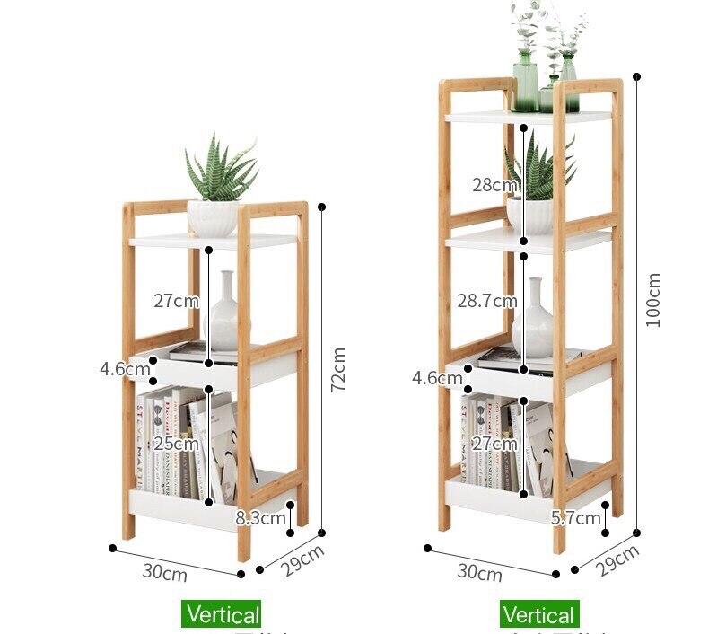 Solid wood storage rack multi layer floor vertical ...