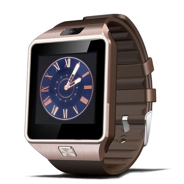 Smartwatch Reloj Intelligent Sport Gold Smart Wristwatch DZ09 Support TF SIM Camera For Women Men Unisex Clock for Android Phone
