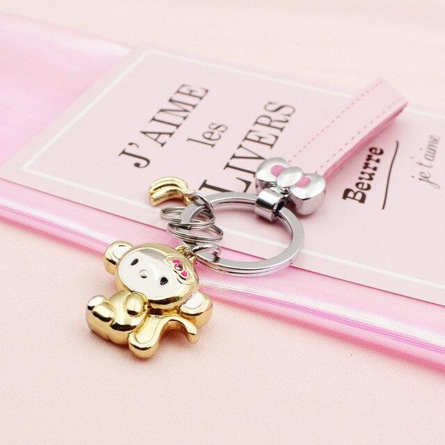 Đáng yêu Ít Khỉ Key Ring Keychain Móc Chìa Khóa Đính Chủ Nhẫn Chaveiro Llavero Sleutelhanger MÓN QUÀ của Phụ Nữ