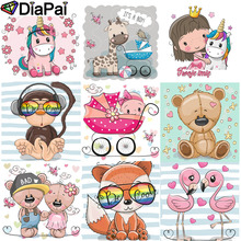DIAPAI Diamond Painting 5D DIY Full Square/Round Drill cartoon animals 3D Embroidery Cross Stitch Decor Gift