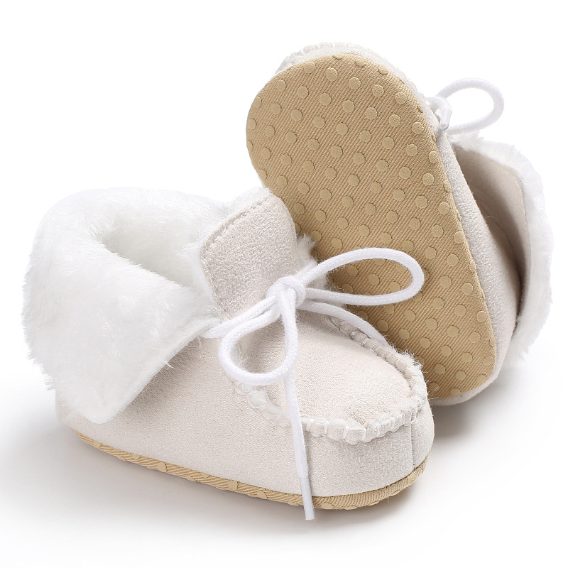 Raise Young Flock Winter Plus Velvet Warm Baby Boots Soft Soles Non-slip Toddler Girl Booties Newborn Infant Boy Shoes 0-18M