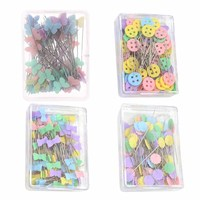 50PCS Bottons Patchwork Pins Needles Flower Sewing Pins DIY Crafts with 4 Type Available