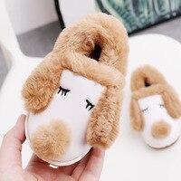 2018 winter new kids slippers thickening, anti slip, children's shoes kids fur slipper slippers for children animal shoes
