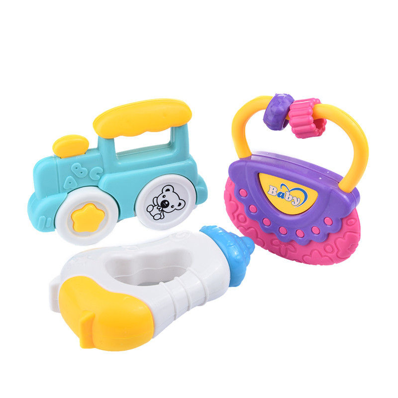 Hot Toys Gifts Baby Educational Toy Bell and Gutta-percha Play Set Baby Rattles Toy Rattles Baby mobile Classic Baby Rattle