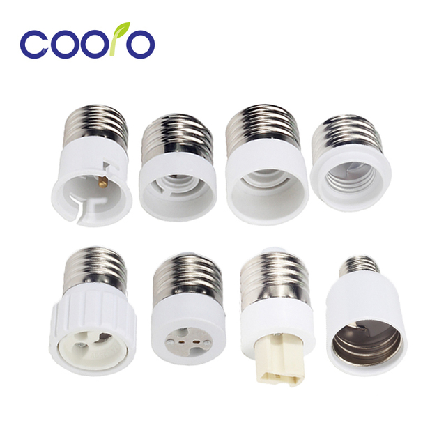 Bulb Converter E27 Male to E12 E14 E40 B22 MR16 G9 GU10 Female ...