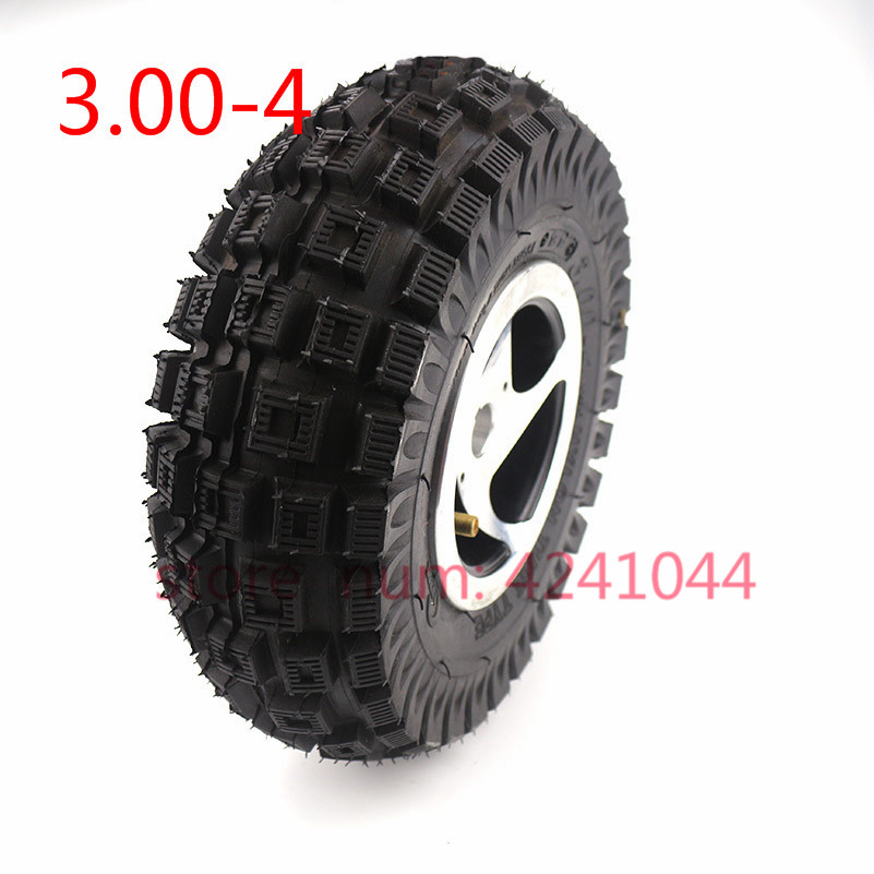3.00-4 Electric Scooter Wheel with 17mm /19mm Keyway Alloy Rim hub and tyre inner tube wheels for Gas scooter bike motorcycle