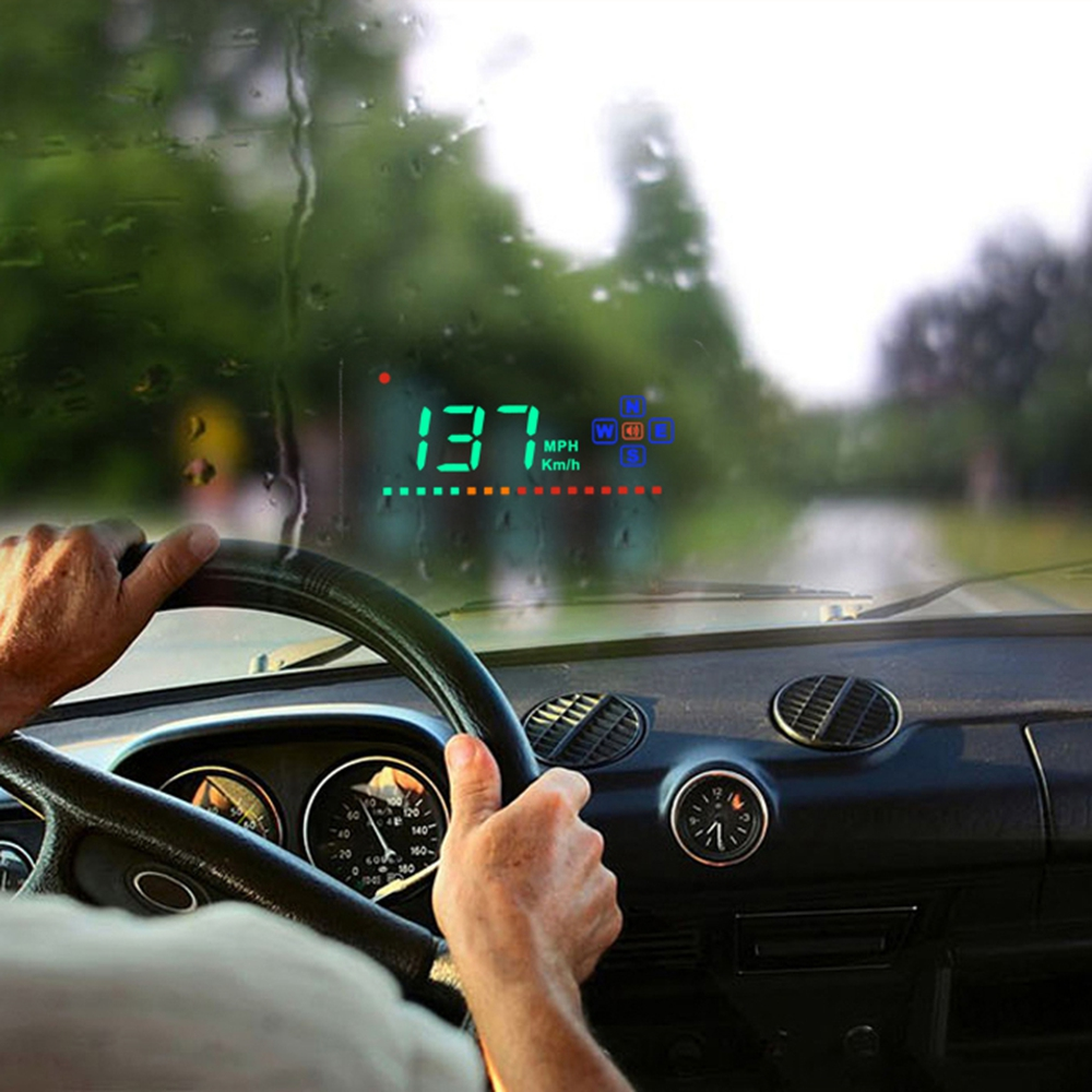 digital gps speedometer a2 head up display auto hud. Black Bedroom Furniture Sets. Home Design Ideas