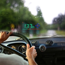 hot deal buy digital gps speedometer a2 head up display auto hud windshield projector electronics car speed projector suitable for all cars