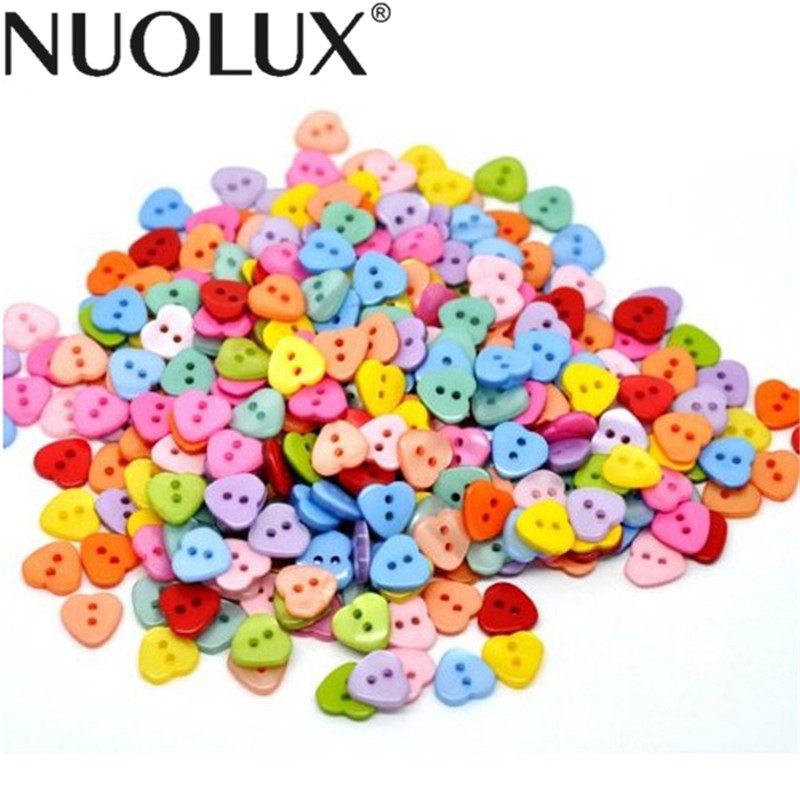 Multicolors 4 Holes Resin Sewing Buttons Scrapbooking 11mm