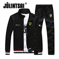 Jolintsai Men's Sportswear Hoodies 2017 Brand Casual Sweatshirt Pant Men Leisure Outwear Tracksuit Sets Plus Size 4XL