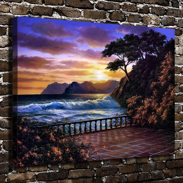 A0545 Anthony Casay Sunset Romance Landscape, HD Canvas Print Home  Decoration Art Painting Living Room