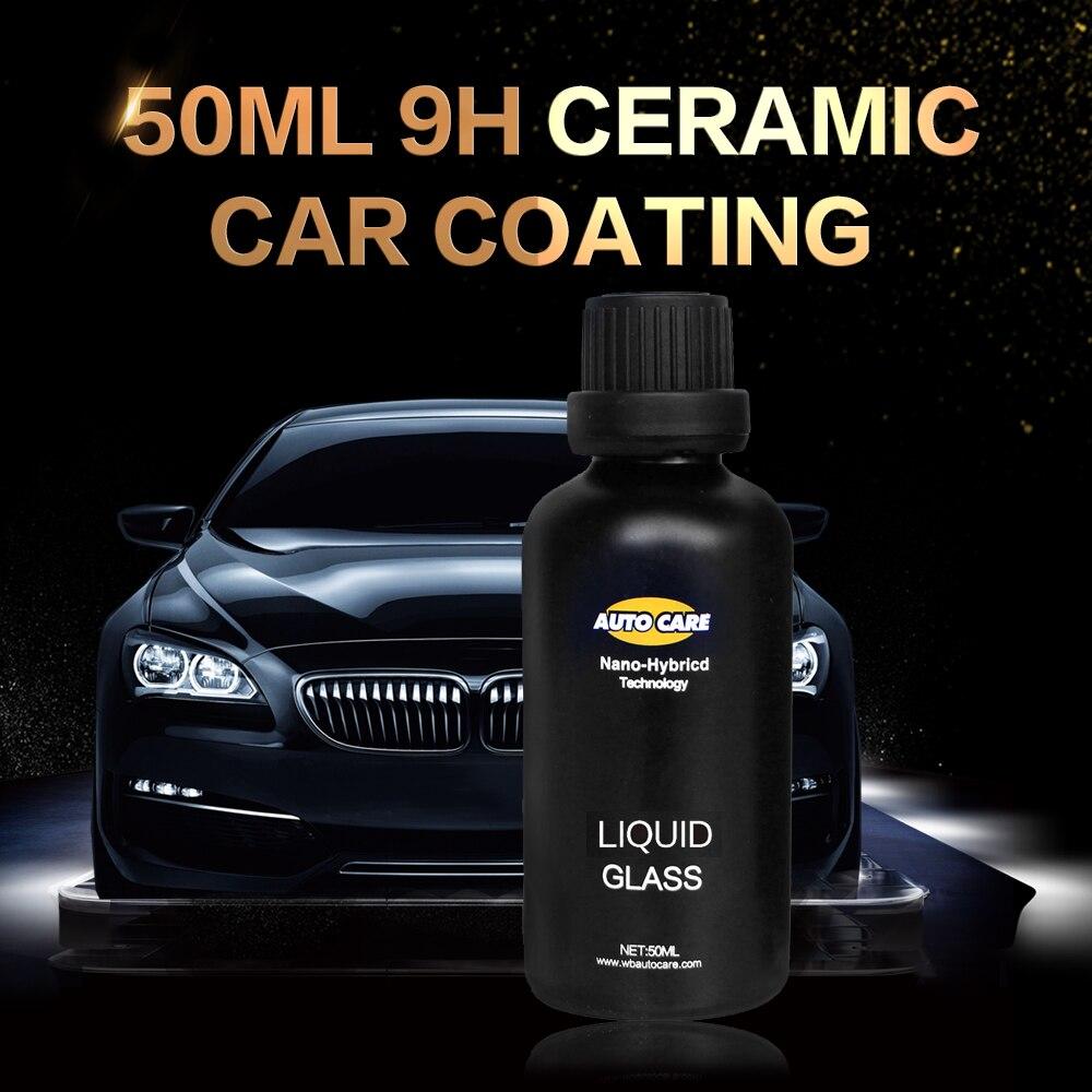 De coche revestimiento de vidrio líquido 50 ML dureza 9 H coche polaco de la motocicleta pintura cuidado Nano capa hidrofóbica de pulverización de la boquilla elección