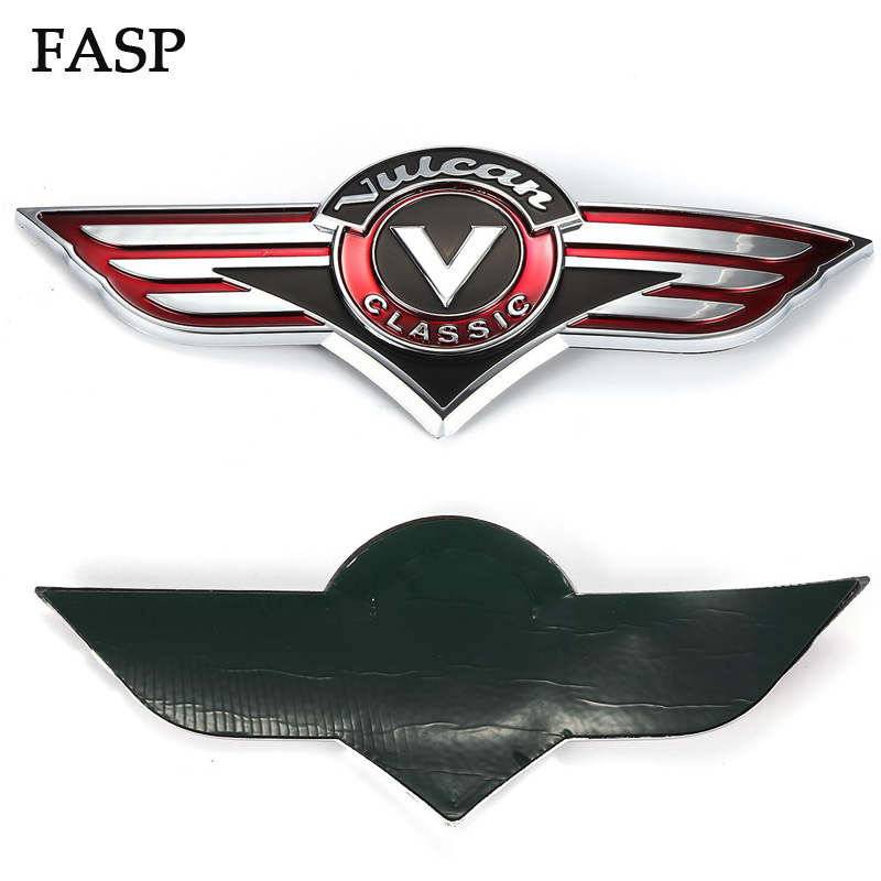 FASP For Kawasaki Vulcan Classic <font><b>VN1500</b></font> 800 500 400 Motorcycle Gas Fuel Tank Stickers 1 Pair Motorbike 3D Emblem Badge Decal image