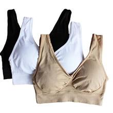 3pcs/set sexy genie bra With Pads Seamless push up bra plus size XXXL underwear wireless Bra black/white/nude