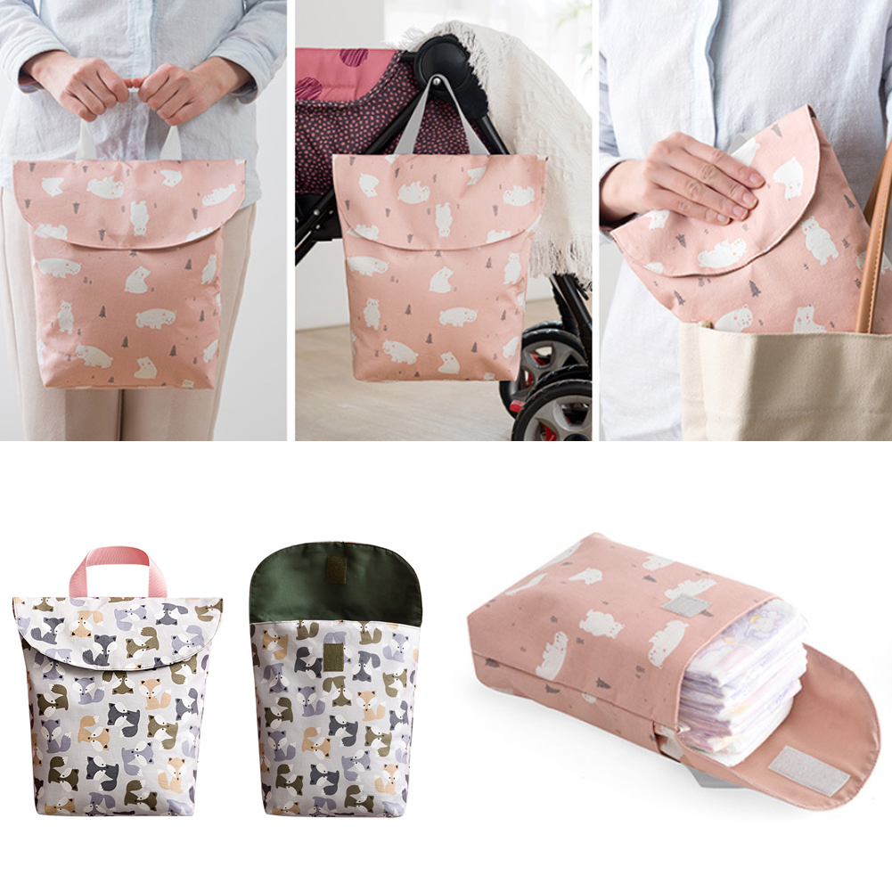 HTB1mgtUbBKw3KVjSZFOq6yrDVXaQ Hot Sale Baby Newborn Mini Waterproof Wet Dry Mom Bag for Baby Infant Cloth Diaper Nappy Pouch Reusable travel outdoor