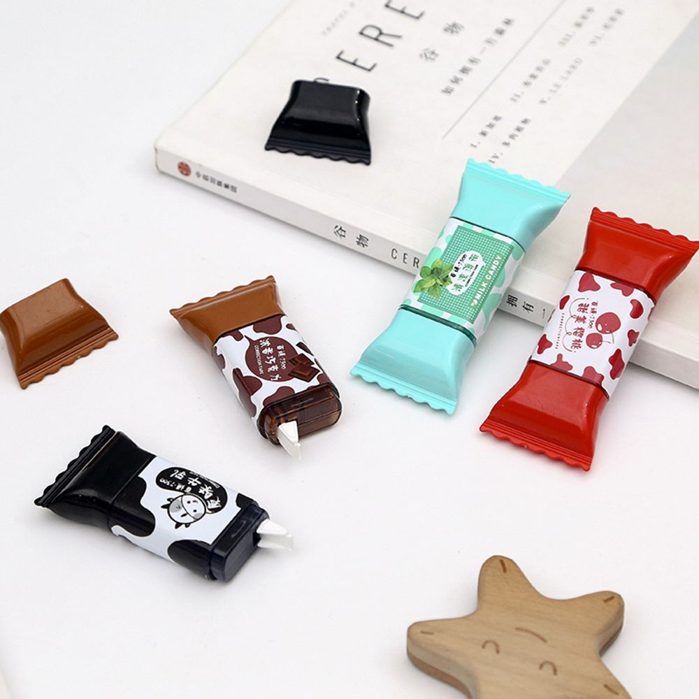 1pc Creative Sweet Candy Correction Tape Creative Milk Modeling Cute Students Correction Supplies Kawaii School Stationery 3.5m